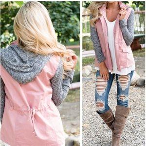 Jackets & Blazers - ✨Best Seller✨ Mauve Hoodie Jacket, Cotton Jacket